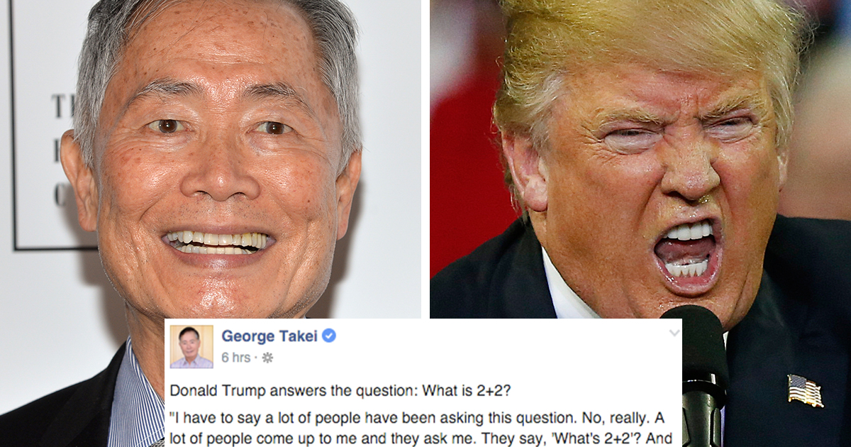 Gay Talk: George Takei Melobi Donald Trump