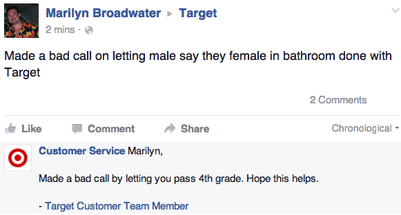 Fake Target Facebook Accounts Troll Bathroom Haters - ATTN: