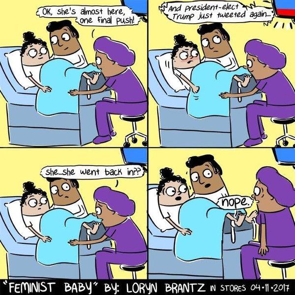 Feminist Baby Comics by Loryn Brantz