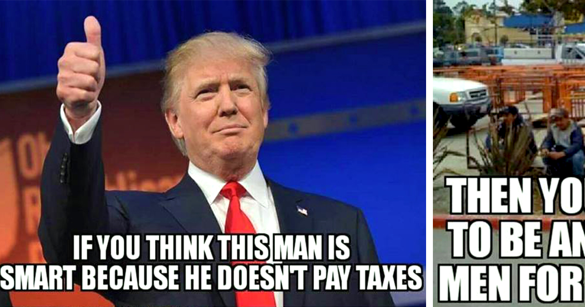 trump_meme the biggest problem with trump's taxes released by nyt attn