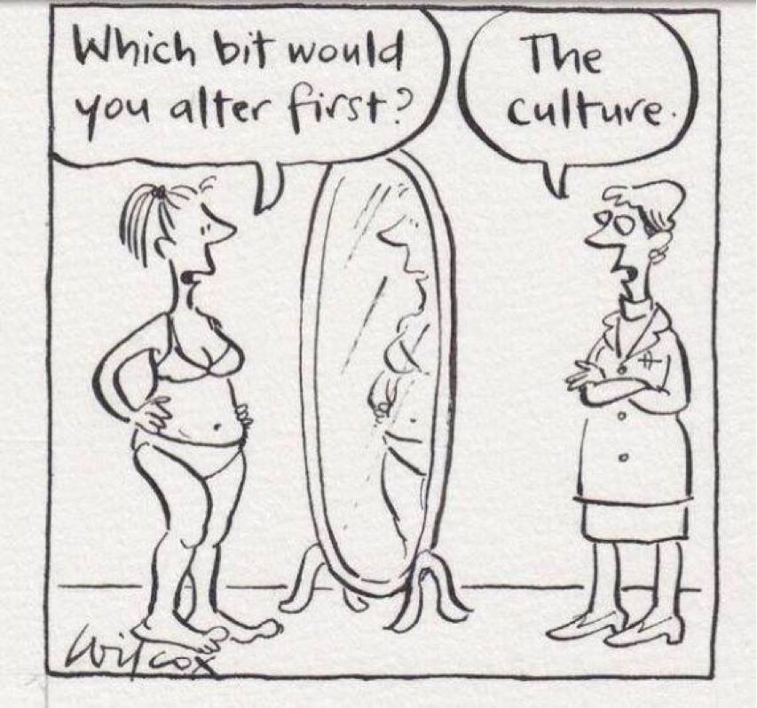 Which bit would you alter first? Answer: The culture (comic)