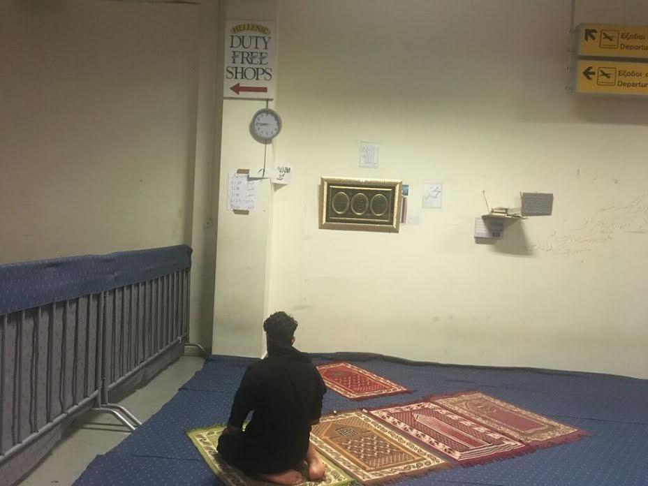 Praying at Elliniko