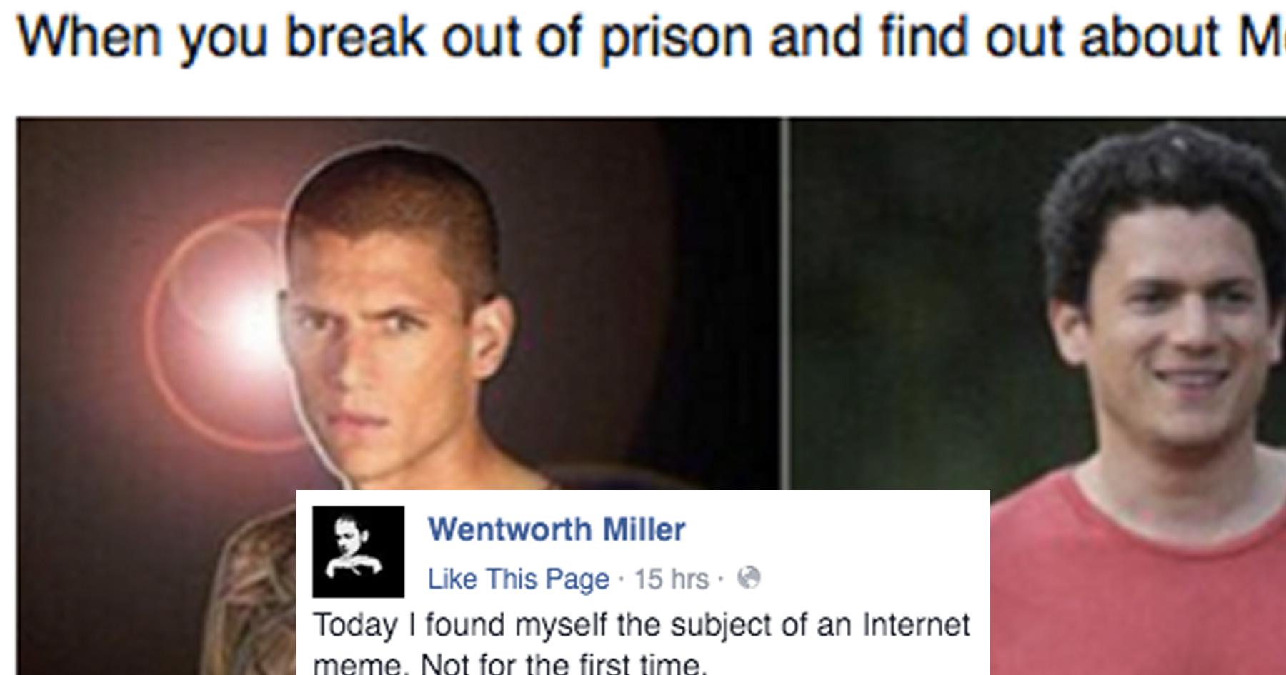 wentworth miller wentworth miller responds to an offensive meme attn