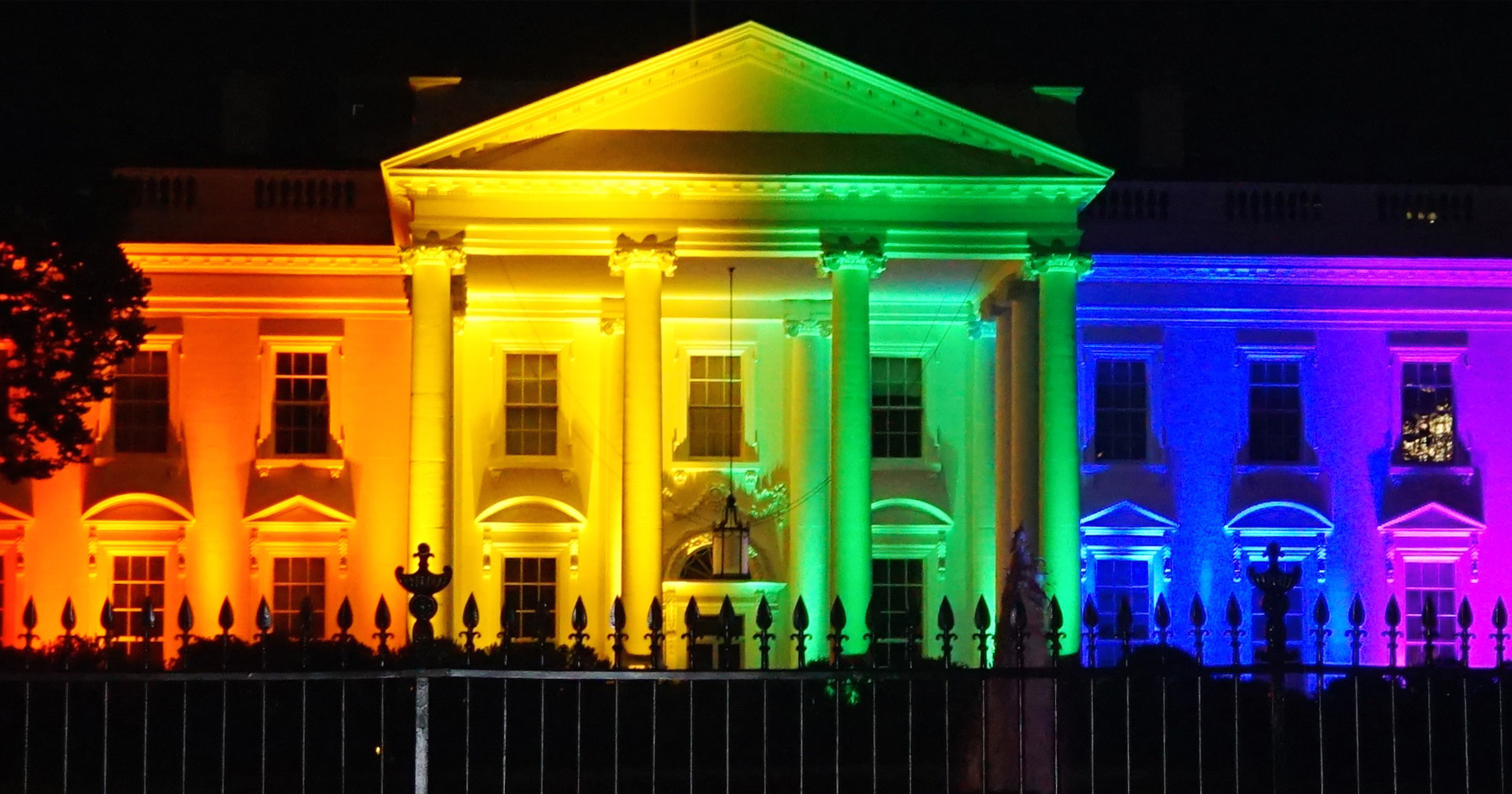 White House lit up rainbow for marriage equality