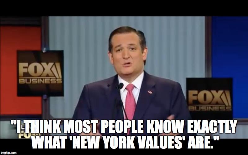 Cruz on New York Values