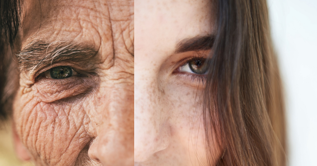 Old-woman-and-young-woman-split-screen