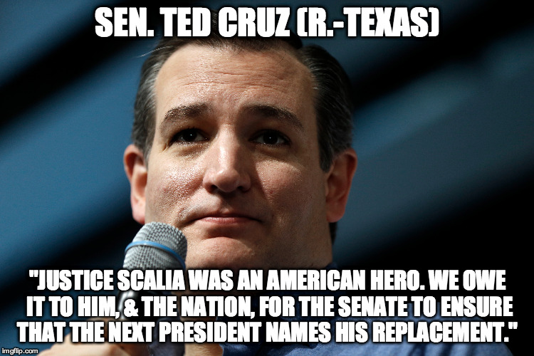 Ted Cruz on Scalia